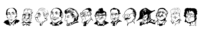 CaricaturesHeads Font LOWERCASE