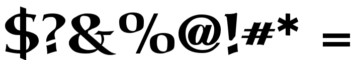 Carita Bold Font OTHER CHARS