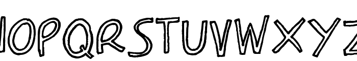 Carla_outline Font UPPERCASE