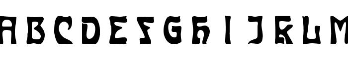 Carmen Caps Inside Font UPPERCASE