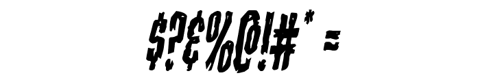 Carnival Corpse Condensed Italic Font OTHER CHARS