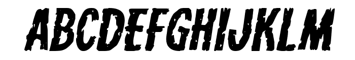 Carnival Corpse Expanded Italic Font UPPERCASE