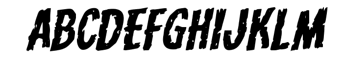 Carnival Corpse Expanded Rotalic Font UPPERCASE