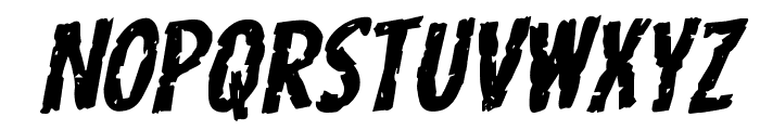 Carnival Corpse Expanded Rotalic Font LOWERCASE