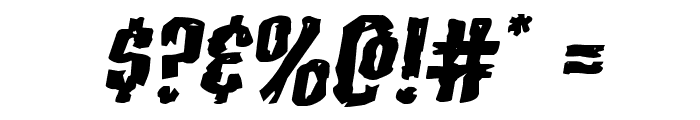 Carnival Corpse Extra-Expanded Italic Font OTHER CHARS