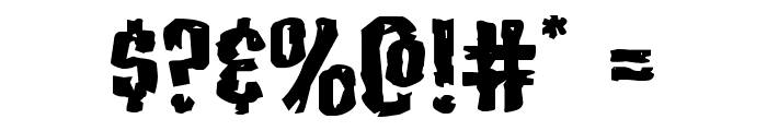 Carnival Corpse Extra-Expanded Font OTHER CHARS