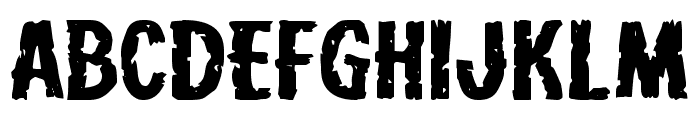 Carnival Corpse Extra-Expanded Font LOWERCASE