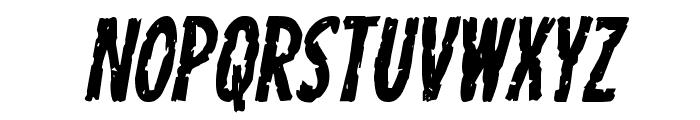 Carnival Corpse Italic Font UPPERCASE