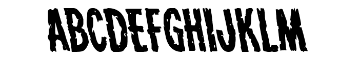 Carnival Corpse Leftalic Font UPPERCASE