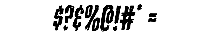 Carnival Corpse Staggered Italic Font OTHER CHARS