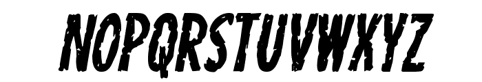Carnival Corpse Staggered Italic Font LOWERCASE