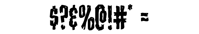 Carnival Corpse Staggered Font OTHER CHARS