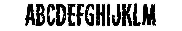 Carnival Corpse Staggered Font UPPERCASE