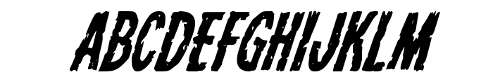 Carnival Corpse Super-Italic Font UPPERCASE