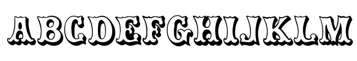 CarnivalMF OpenShadow Font UPPERCASE