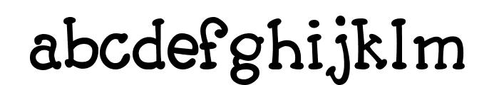 Carogna Font LOWERCASE