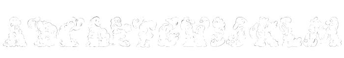 CarolesChunk Font LOWERCASE
