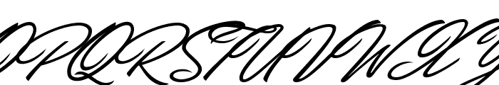 Carolina Hills Personal Use Font UPPERCASE