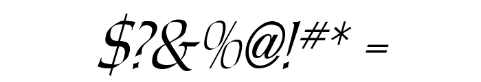 Carolus Italic Font OTHER CHARS