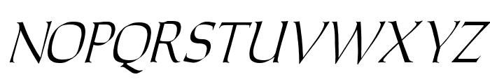 Carolus Italic Font UPPERCASE