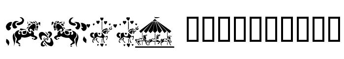 Carousel Horses Font LOWERCASE