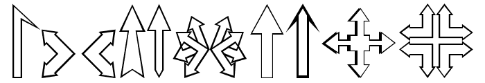 Carr Arrows [outline] Font OTHER CHARS