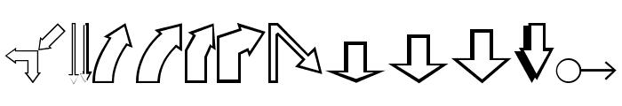 Carr Arrows [outline] Font UPPERCASE
