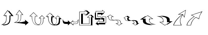 Carr Arrows [outline] Font LOWERCASE