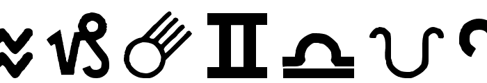 Carr AstroDings Font LOWERCASE