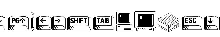 Carr Keys Font UPPERCASE
