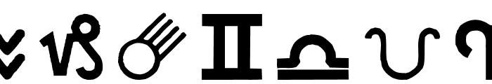 CarrAstroDings Font LOWERCASE