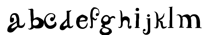 CarrickDancing Font LOWERCASE