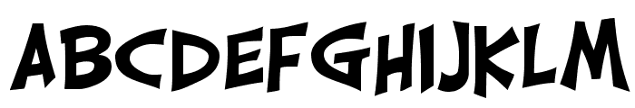 CarrickGroovy Font UPPERCASE