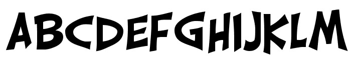 CarrickGroovy Font LOWERCASE