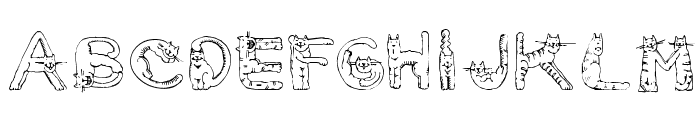 CarrieCattSH Font UPPERCASE