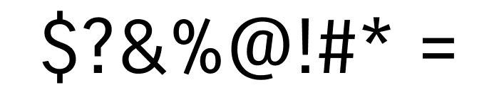 Carrois Gothic Regular Font OTHER CHARS