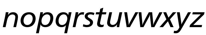 CartoGothicStd-Italic Font LOWERCASE