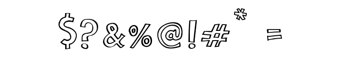 Cartoon 2 Package Font OTHER CHARS