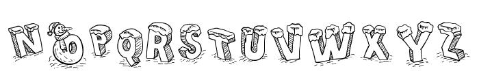 Cartoon Blocks Christmas SC Font UPPERCASE