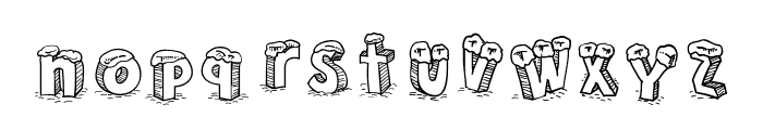 Cartoon Blocks Christmas SC Font LOWERCASE