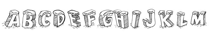 Cartoon Blocks Christmas Font UPPERCASE