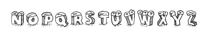 Cartoon Blocks Christmas Font LOWERCASE