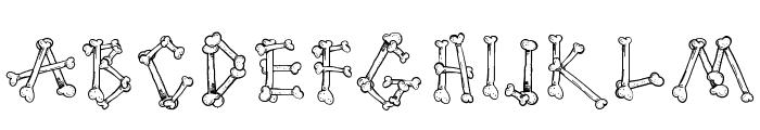 Cartoon Bones Font LOWERCASE