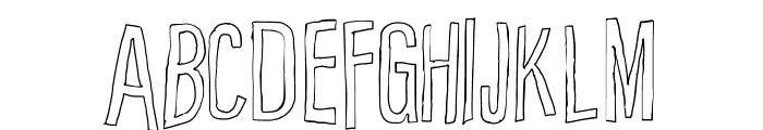 Cartoon East Outline Font UPPERCASE