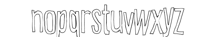 Cartoon East Outline Font LOWERCASE