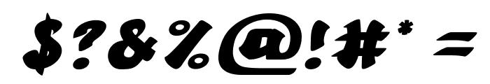 Cartoon Italic Font OTHER CHARS