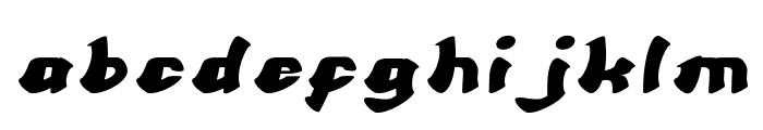 Cartoon Italic Font LOWERCASE