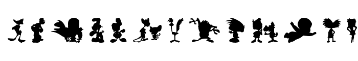 Cartoon Silhouettes Font LOWERCASE