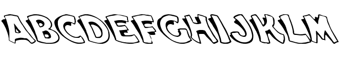 Cartoon Slant 1 Font LOWERCASE