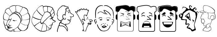 CartoonHeads Font OTHER CHARS